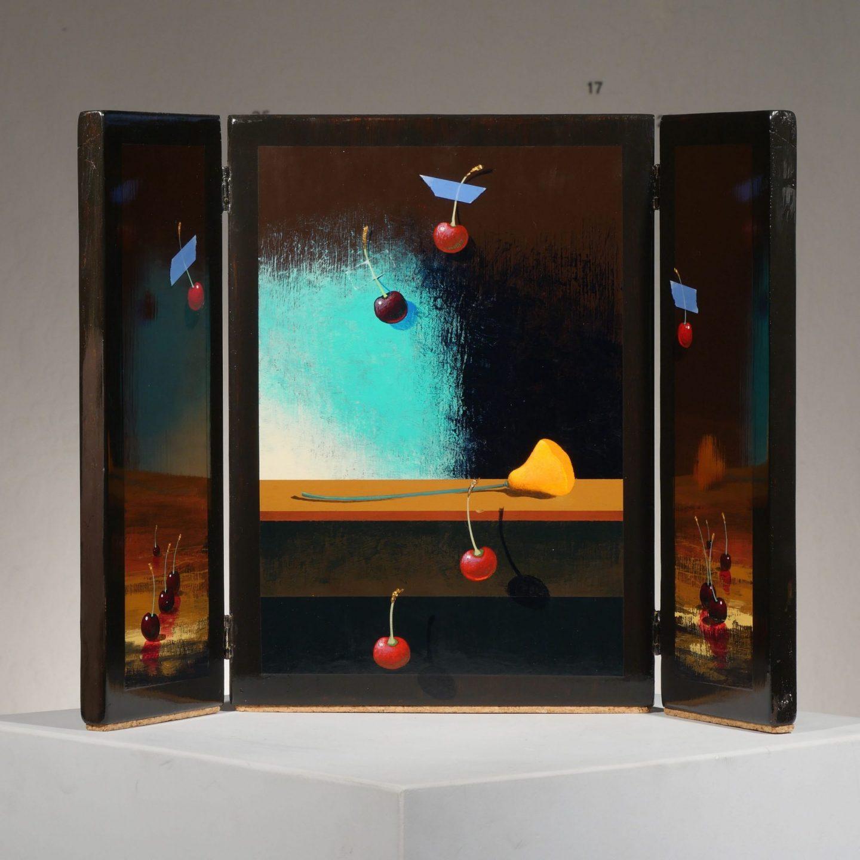 Moss Cherries Triptych III