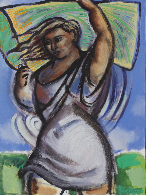 Landis Carrying Wheat